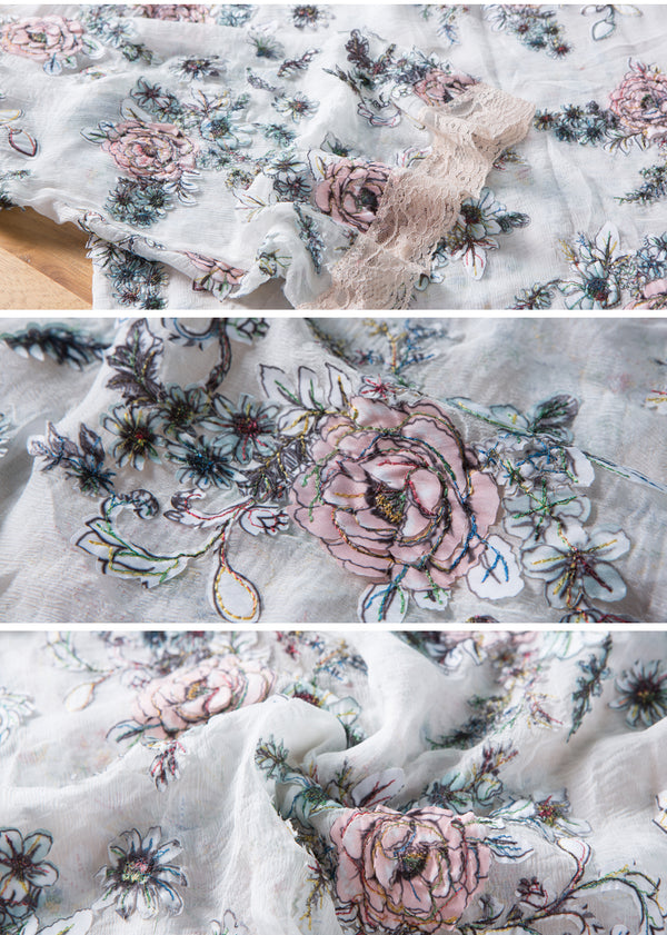 Rose Autumn's Embroidery twinset Top