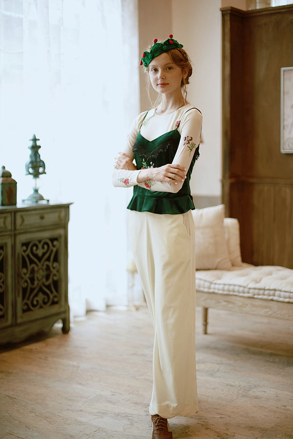 Orchid's  Milk Tea Ivory Trousers