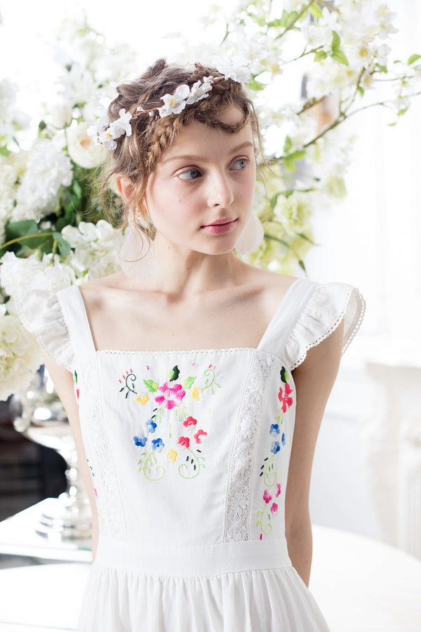 Summer White Floral Princess Dress