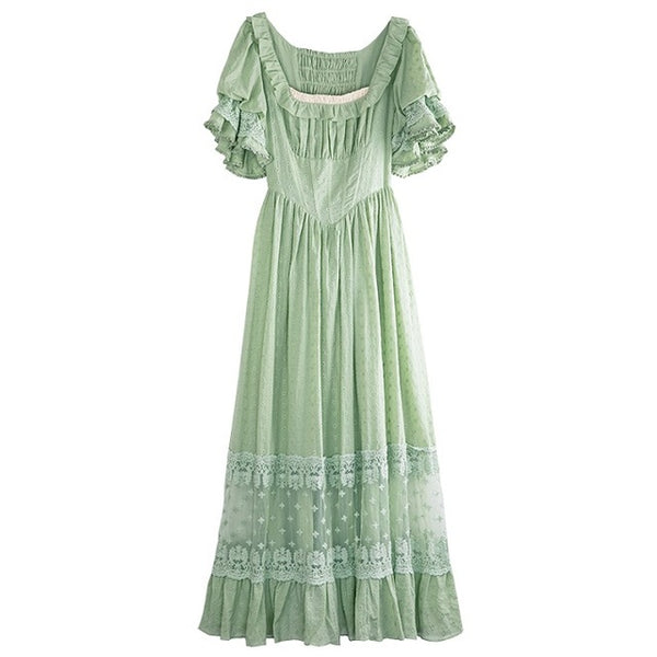Lolita's Original Vintage Cotton & Lace Long Dress