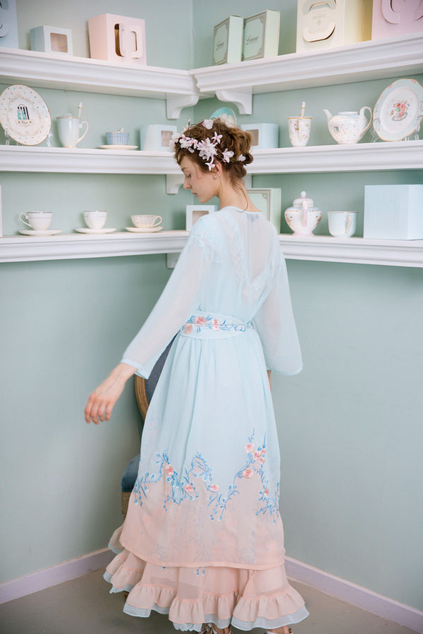 Sweet Floral Summer French Inspired Pastel Dress