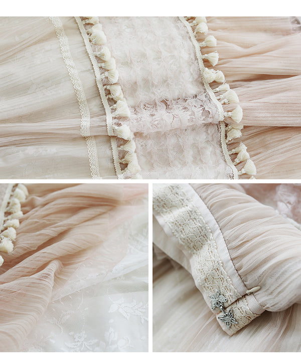 Ballerina Farm Girl Mesh Lace Patchwork Skirt