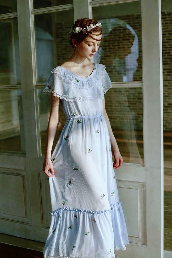 Blue Bohemian Dancer Dress