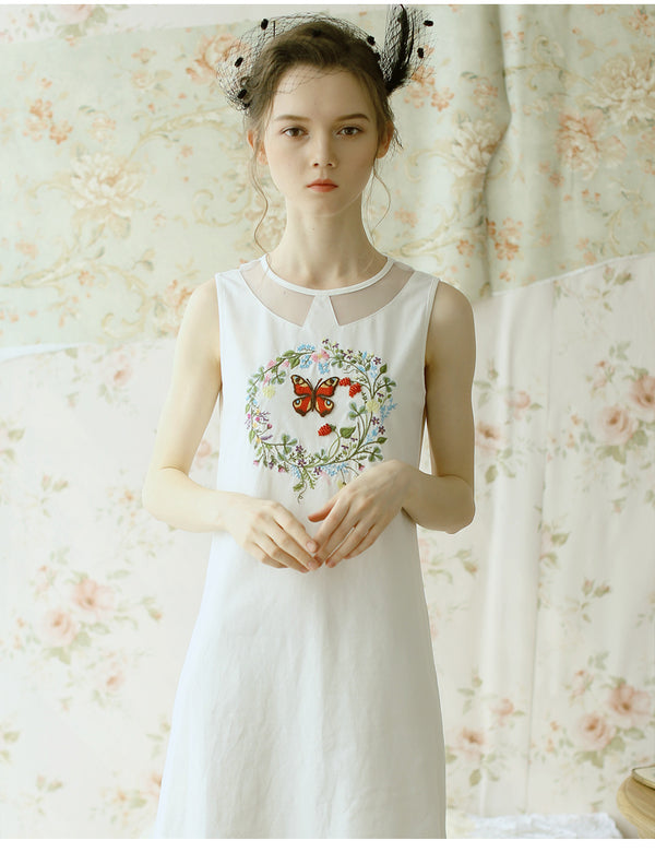 Daisy's Dancer Design Embroidery Twinset Dress