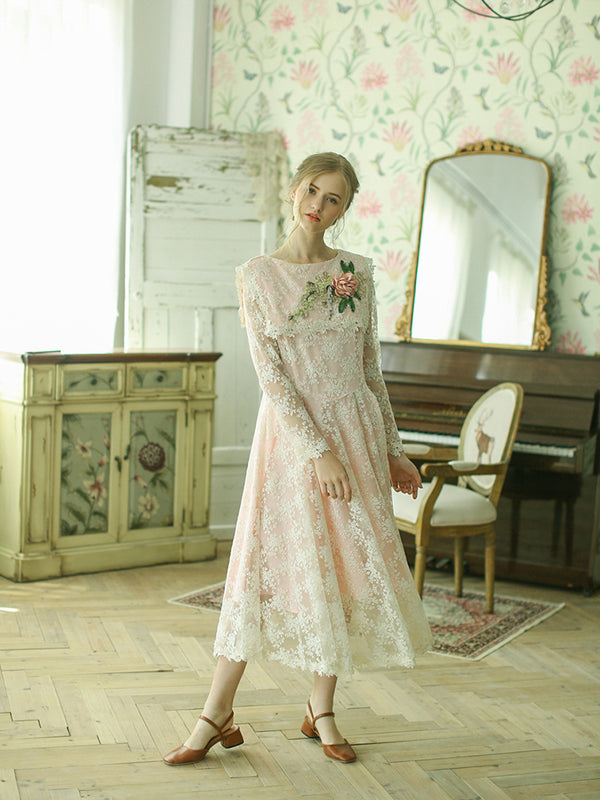 Cello's Pink Loose Lace Dress