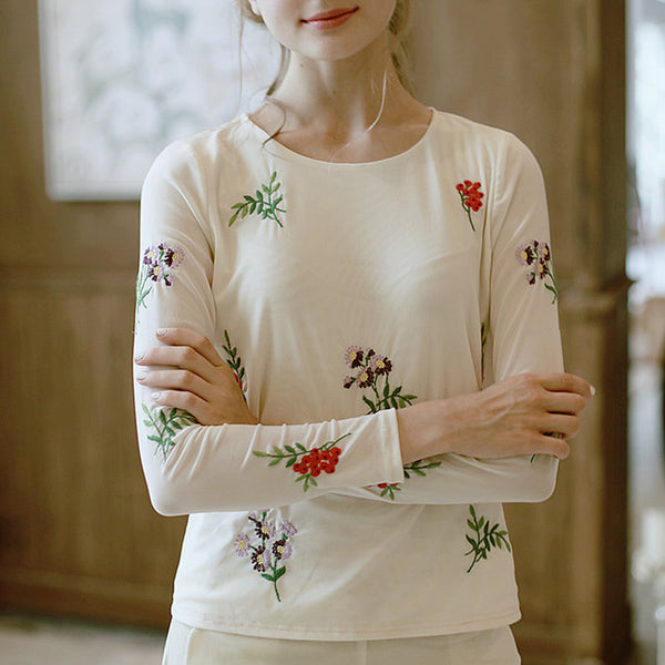 Lolita's Embroidery Shirt