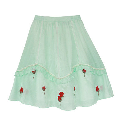 Lily's Water Green Skirt