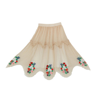 Lolita's Embroidery Patchwork Dancer Skirt
