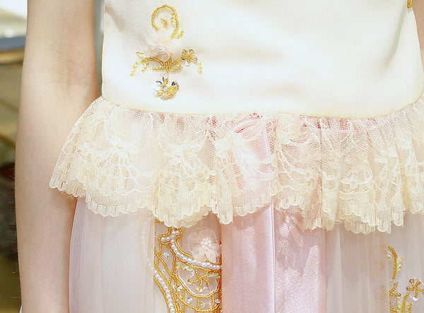 Ballerina's Handmade Beaded Tutu Skirt
