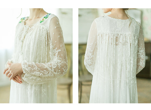 Lolita's Summer White Flower Dresses