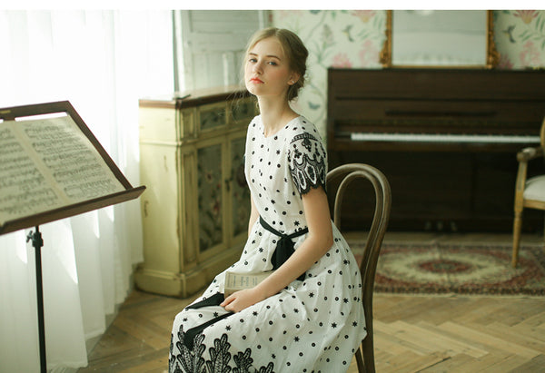 Lolita's Black & White Long Dress