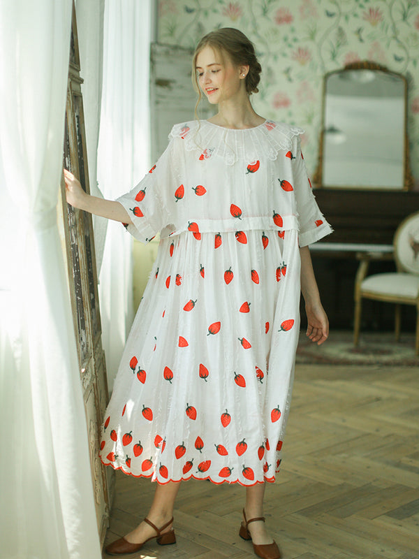 Strawberry Sunshine Cotton Dresses