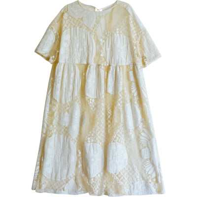 Lily's Loose Embroidery Lace And Patchwork Dress