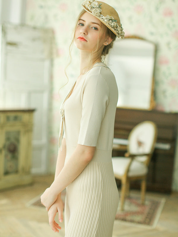 Lily's Knitted Classy Cotton Dress