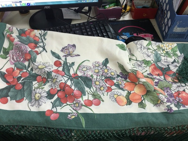 Lolita's Fruit Double Faced Scarf Cape