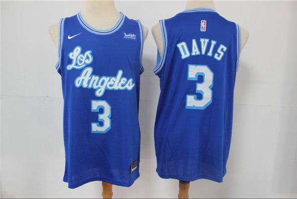 Anthony Davis Los Angeles Lakers Throwback Jersey Blue – Legends ...