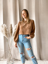 Load image into Gallery viewer, Cropped Sweater Camel