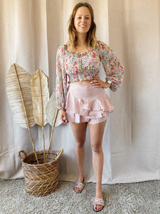 Flowy Pink Skirt/Short