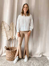 Load image into Gallery viewer, Flared Pants Beige