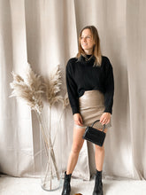 Load image into Gallery viewer, Leather Skirt Beige