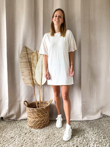 Tie Dye T-shirt/Dress White