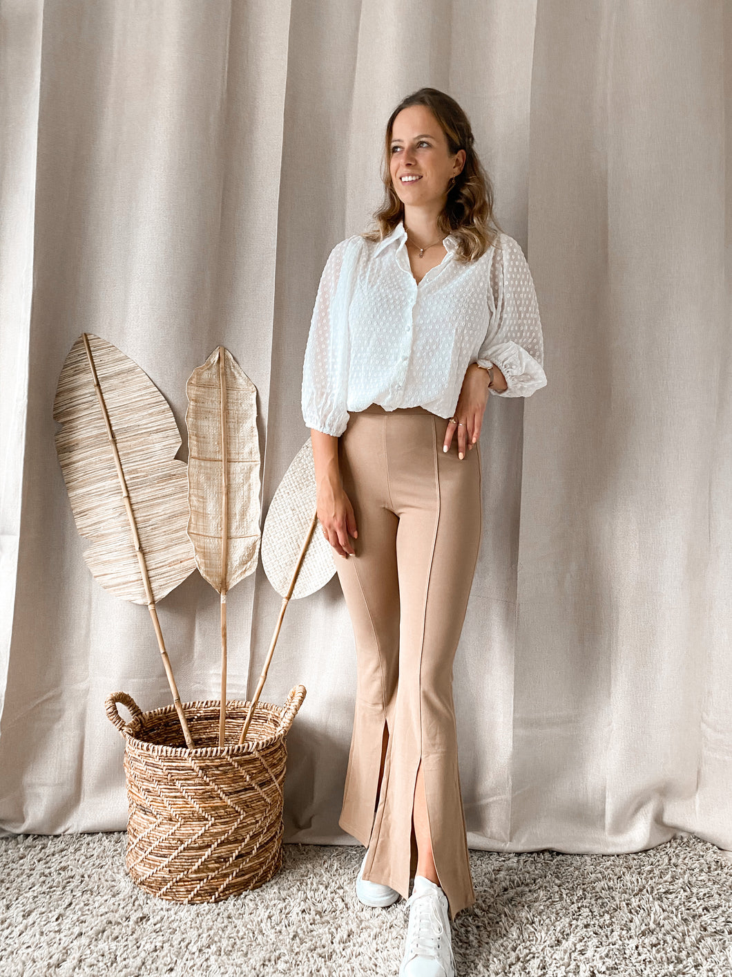 Flared Pants Beige