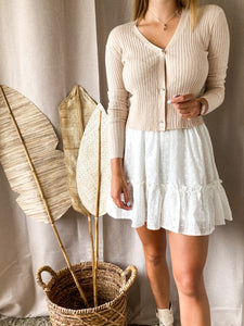 Beige Button Cardigan