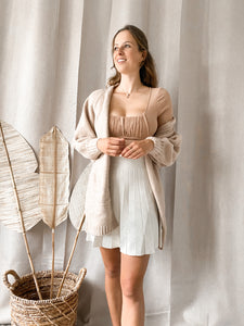 Julie Sleeve Blouse Beige