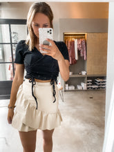 Load image into Gallery viewer, Beige Leatherlook Skirt