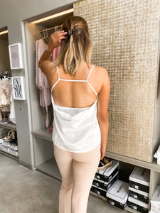 Open Back Top White