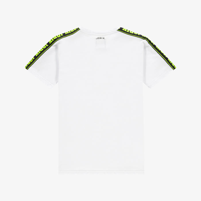 Neon Logo Tape T-shirt White