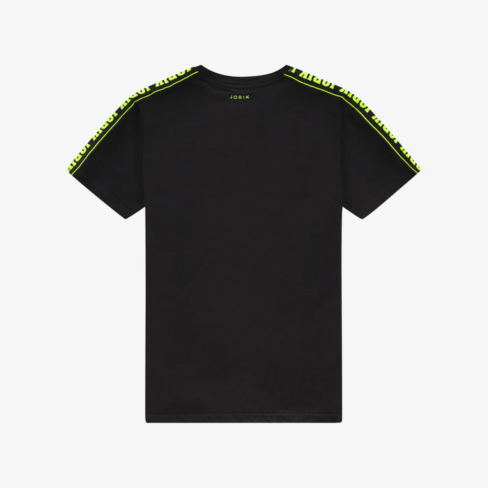 Neon Logo Tape T-shirt Black