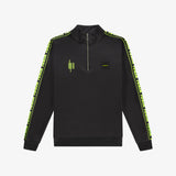 Neon Logo Tape Track Top Black