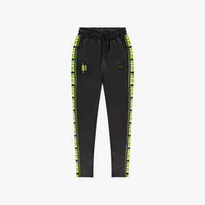 Neon Logo Tape Track Pants Black
