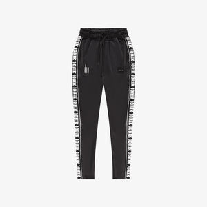 Logo Tape Track Pants Black