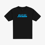 3D logo t-shirt black blue