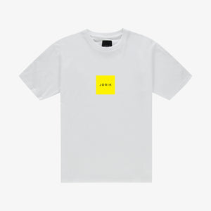 Box logo t-shirt white yellow