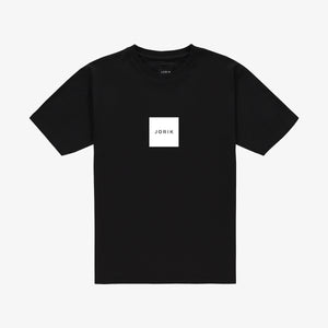 Box logo t-shirt black white
