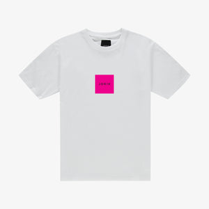 Box logo t-shirt white pink