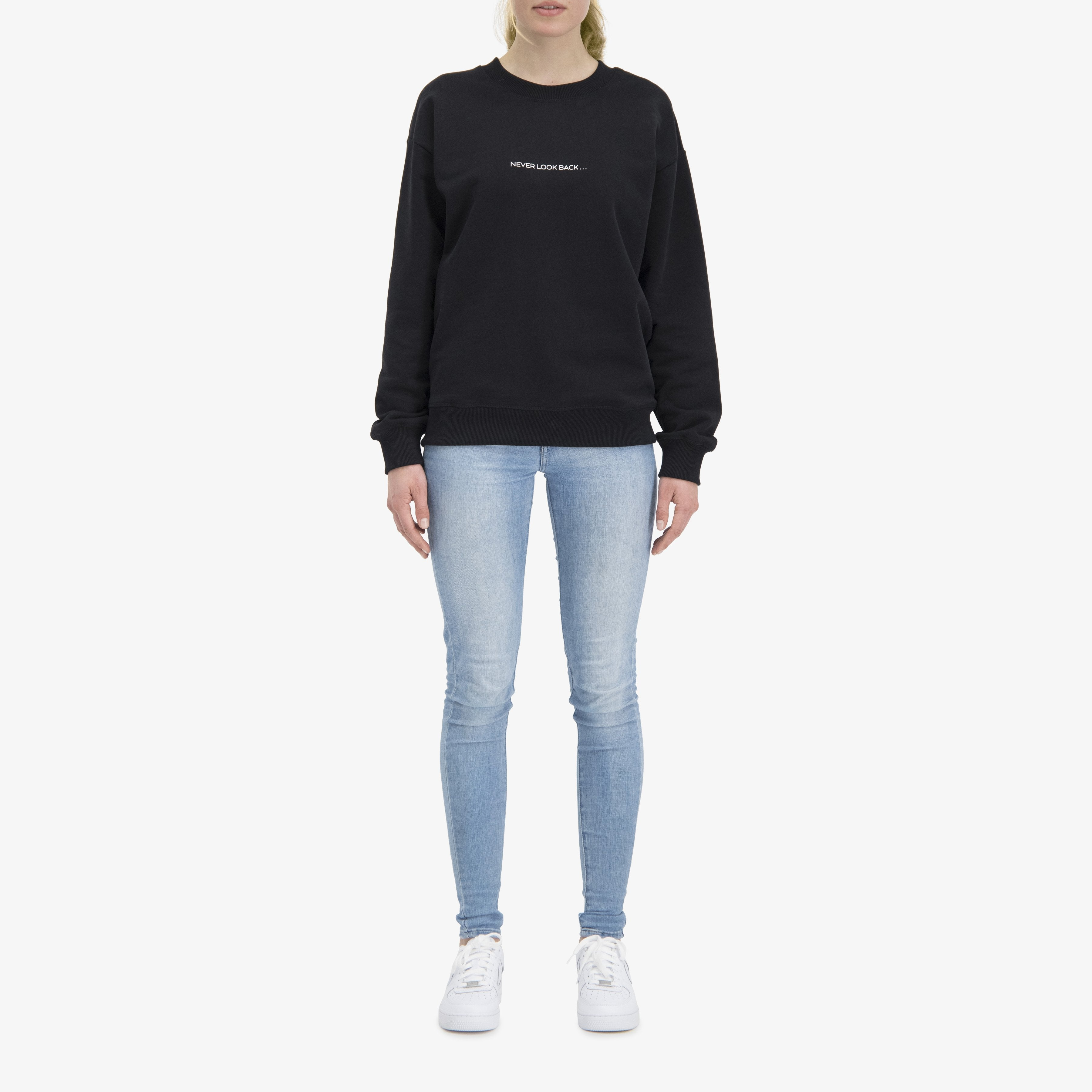 Never Look Back Sweater Black Unisex