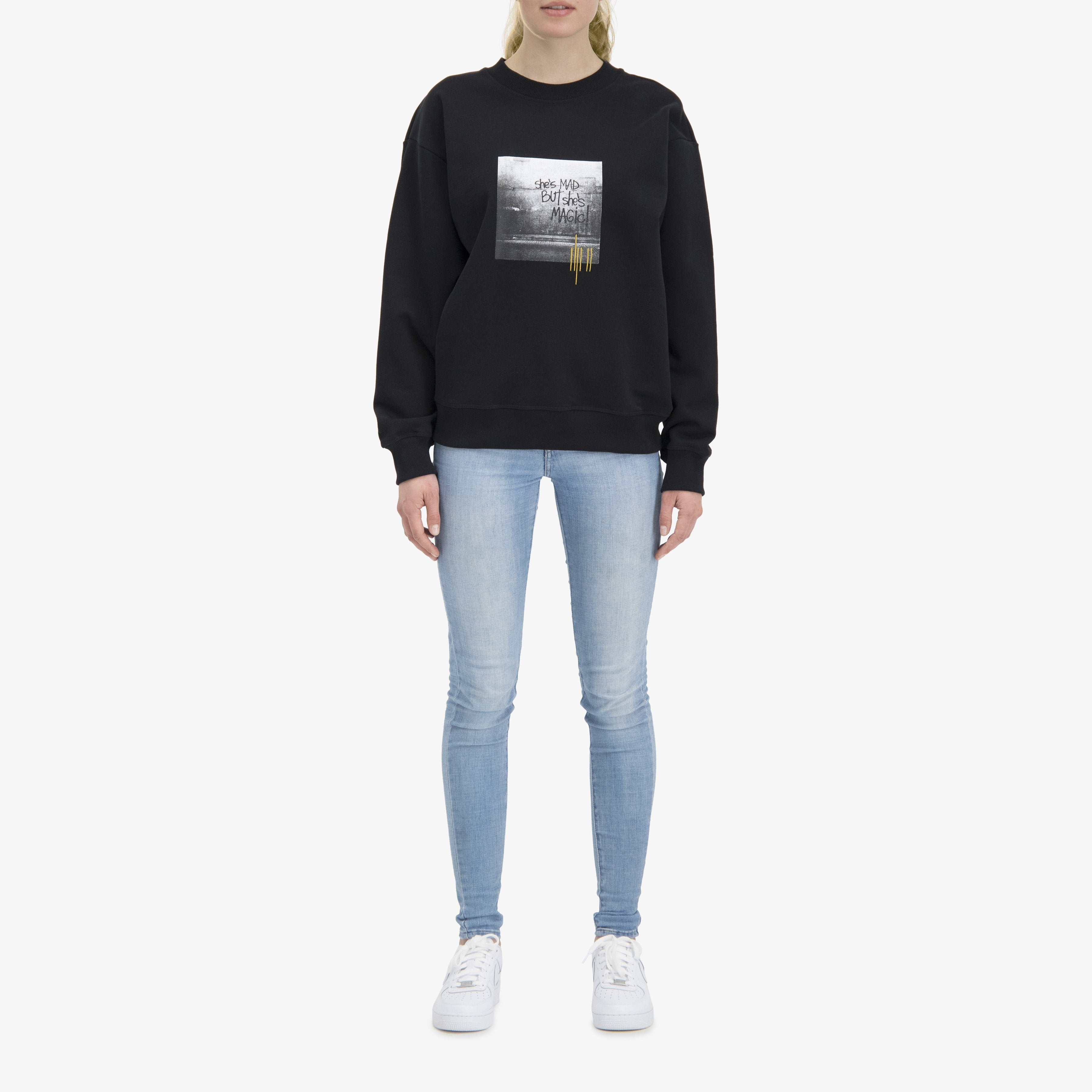 She's Mad But She's Magic Sweater Black Unisex