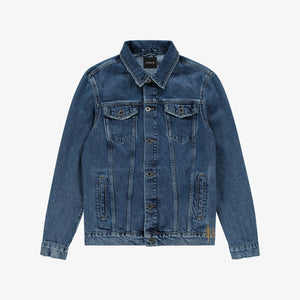 Blue Out Of The Box Logo Denim Jacket Unisex