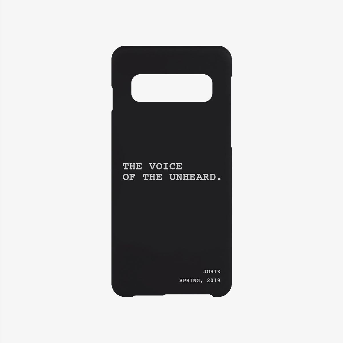 The Voice Phone Case Black