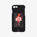 Burning Rose Phone Case Black