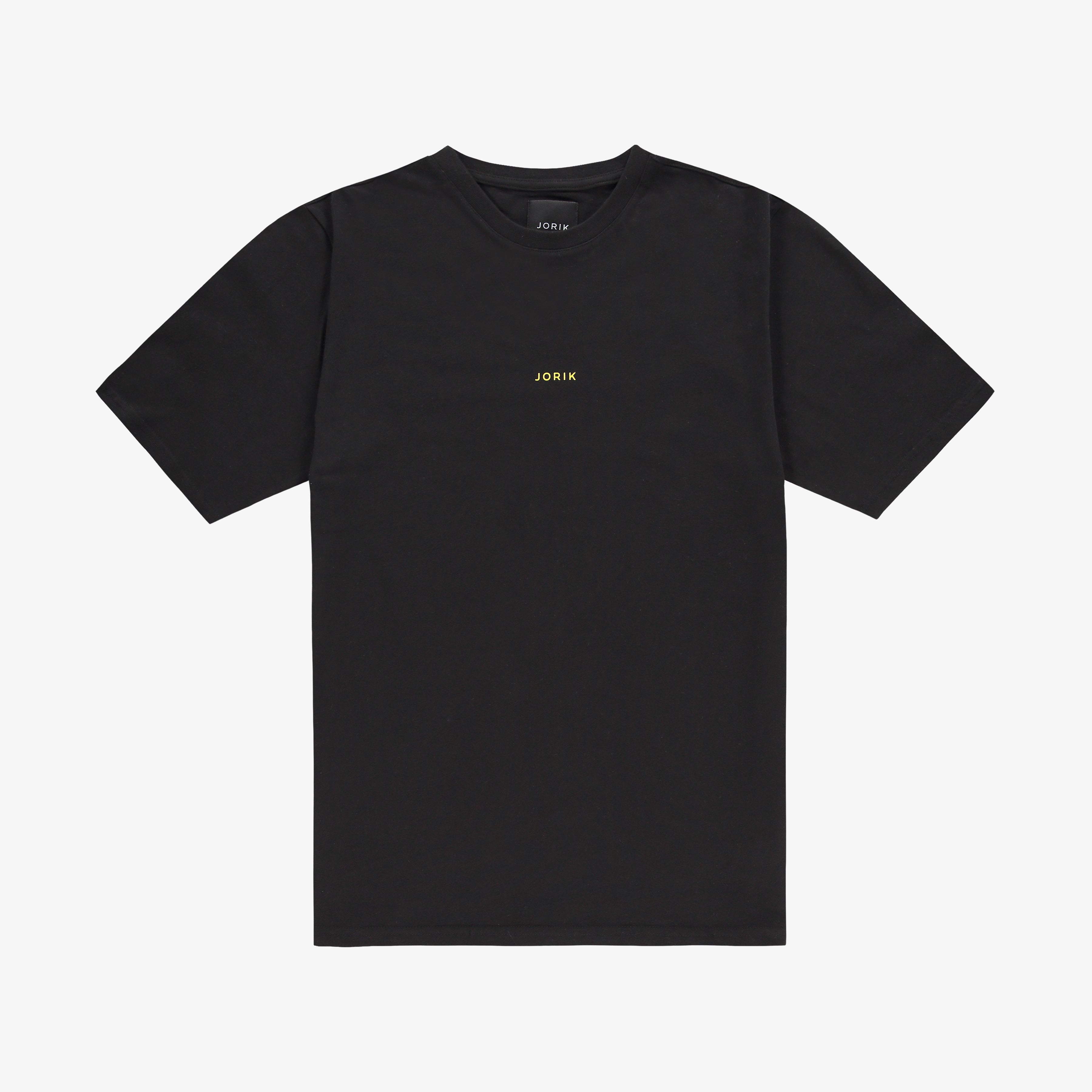 Jorik Logo T-shirt Black Yellow Unisex