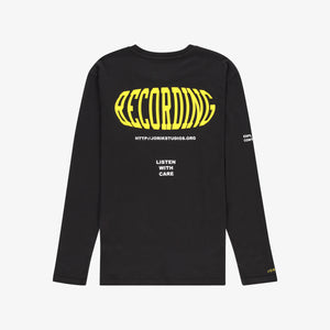 Recording Long Sleeve T-shirt Black Unisex