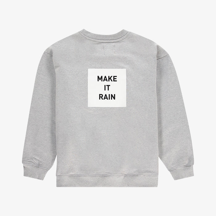 Make it rain sweater grey white unisex