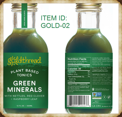 Green Minerals - Plant glaze tonic (12oz per Bottle)