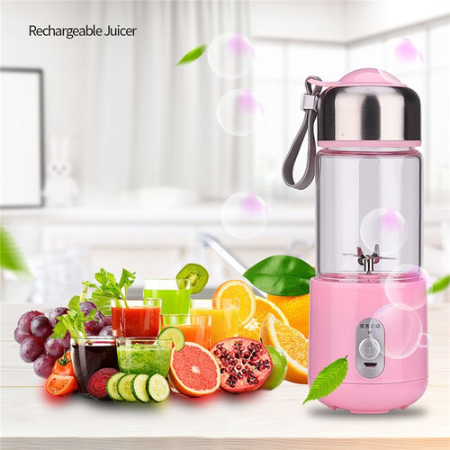 260mL Electric Juicer USB Rechargeable Fruit Extractor for Fruits and Vegetables Juicer