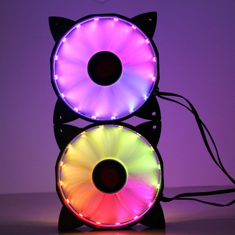 Colorful RGB Fan + Control Module + Remote Control